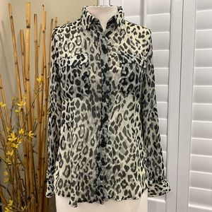 Old Navy Women's Size Small LS Animal Print Top